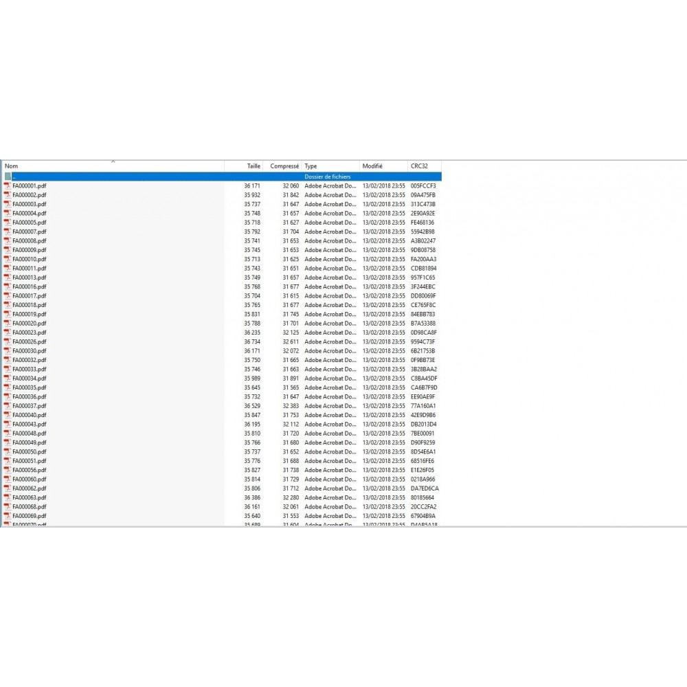 module - Contabilidad y Facturas - Exportar múltiples facturas / crédito PDF archivo ZIP - 4