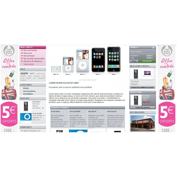 module - Personalizzazione pagine - Background picture of home, categories, products and cms - 1