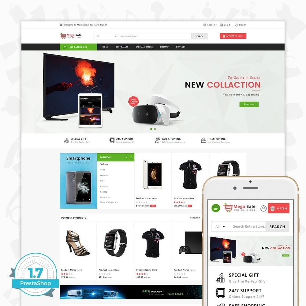 theme - Electronics & Computers - MegaSale - The Online Store - 1