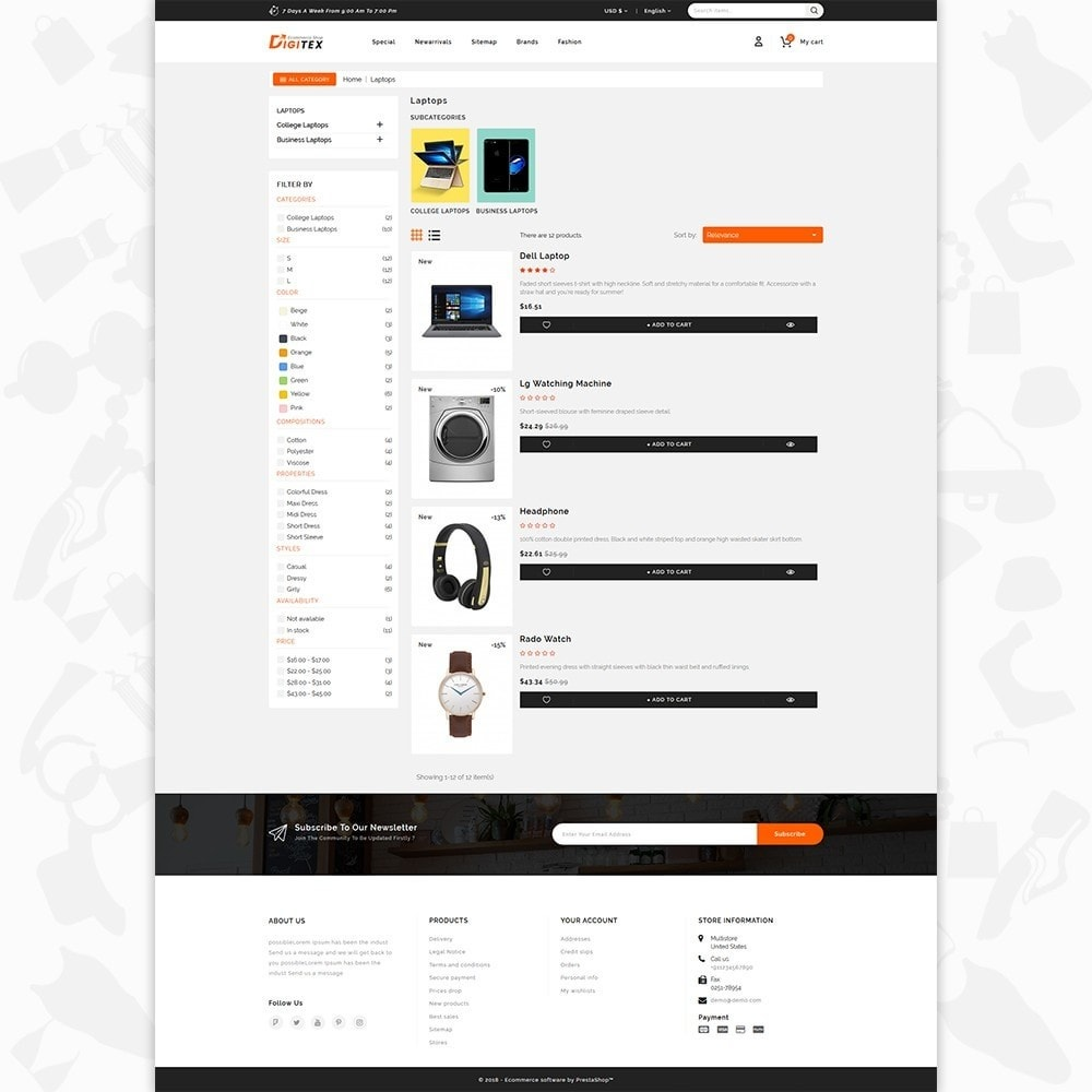 theme - Electronique & High Tech - Digitex - The Ecommerce Shop - 4