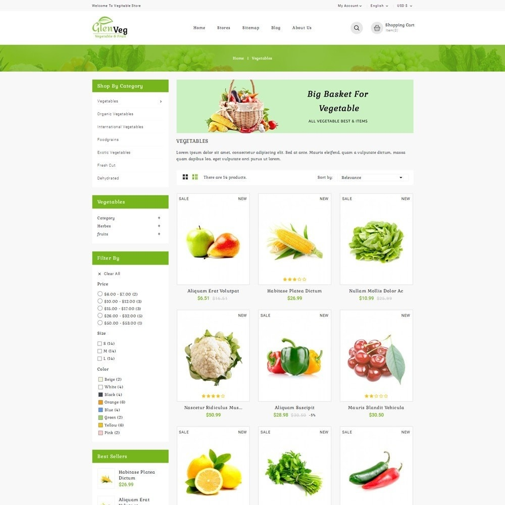 theme - Alimentation & Restauration - Glen Veg Store - 3