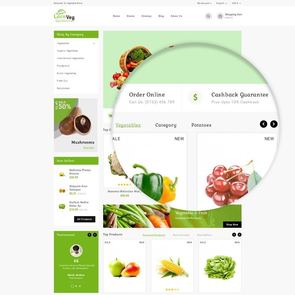 theme - Alimentation & Restauration - Glen Veg Store - 9
