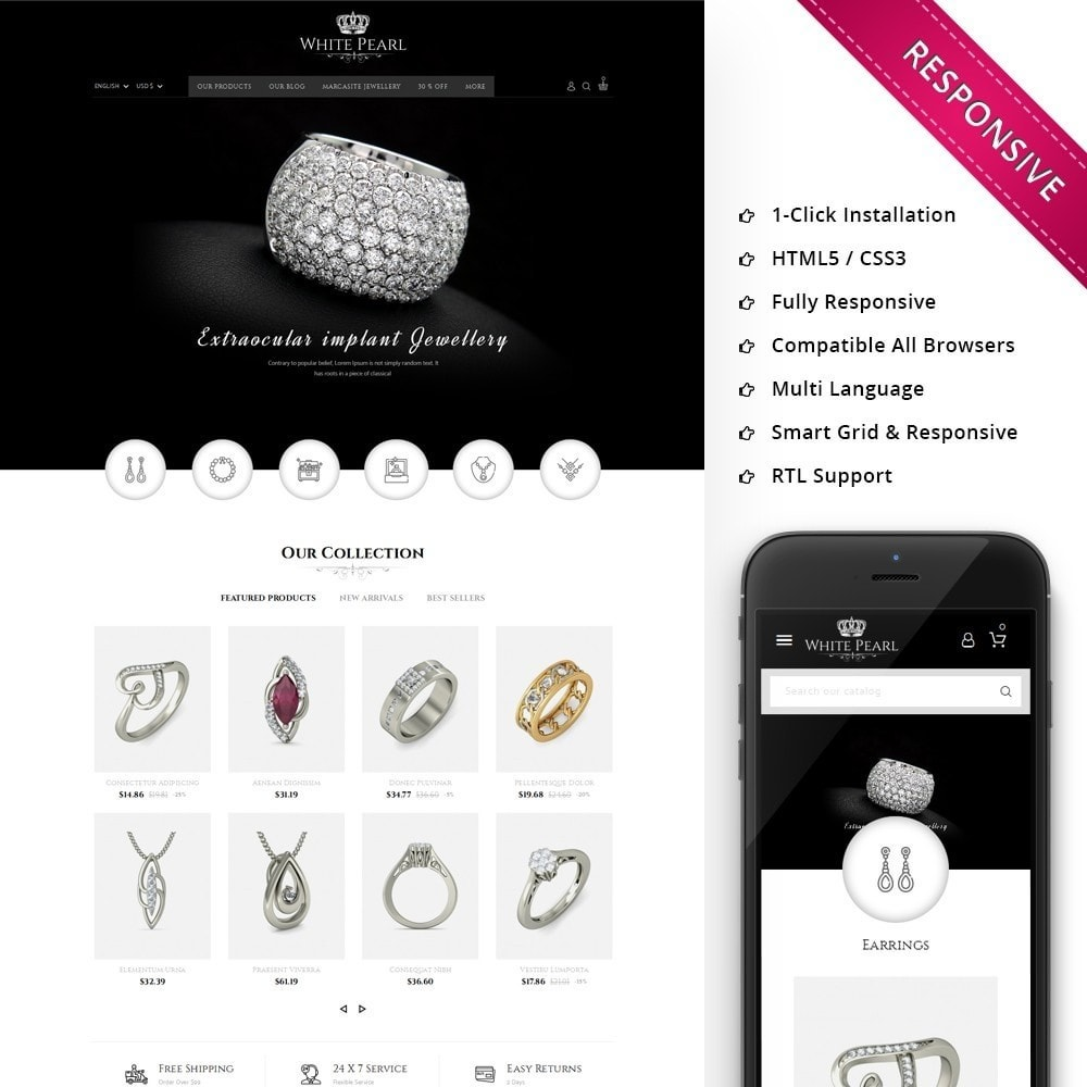 theme - Schmuck & Accesoires - White pearl Jewellery Shop - 1