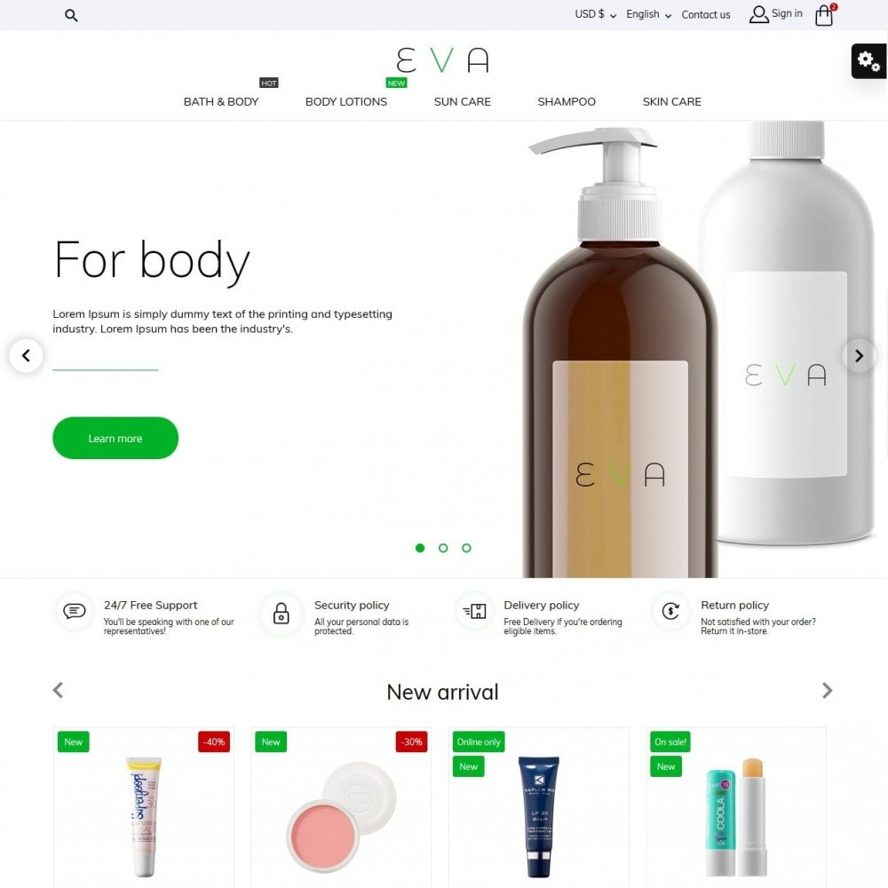 theme - Здоровье и красота - Eva Cosmetics - 2
