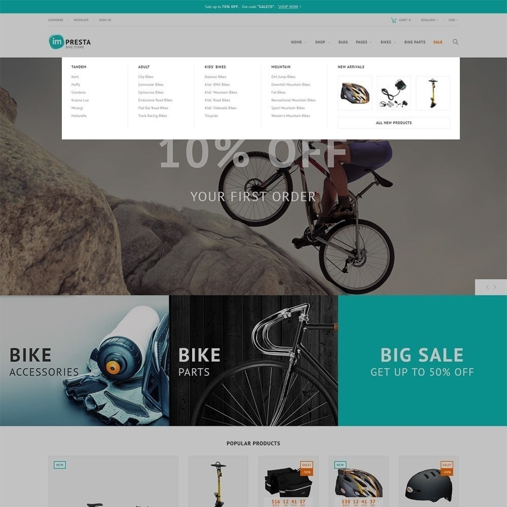 theme - Sport, Loisirs & Voyage - Impresta Bike Store - 6