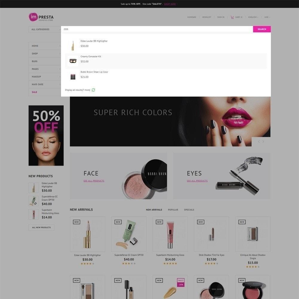 theme - Salute & Bellezza - Impresta - per Un Sito di Negozio di Cosmetici - 4