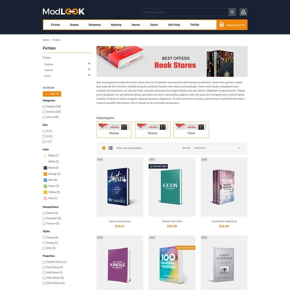 theme - Art & Culture - Modlook - Books Online Store - 3