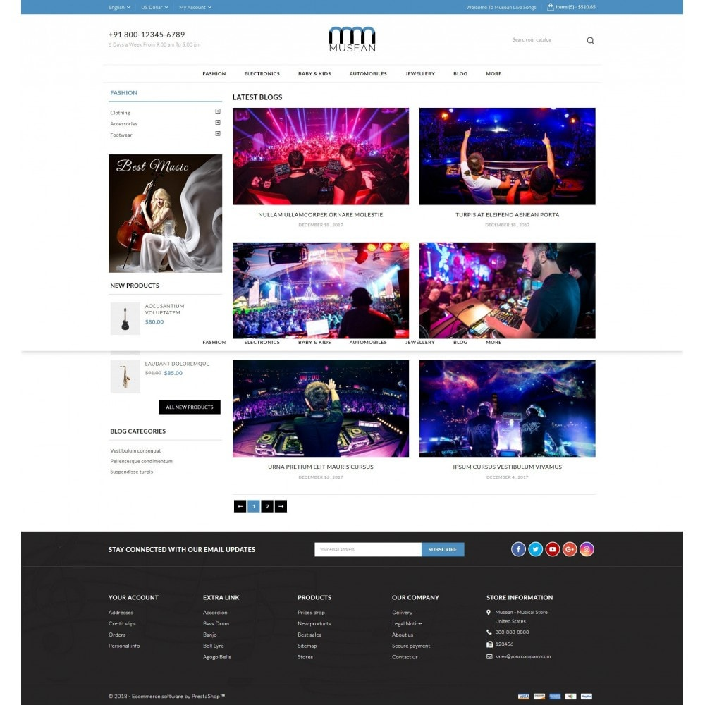 theme - Art & Culture - Musean - Musical Store - 9