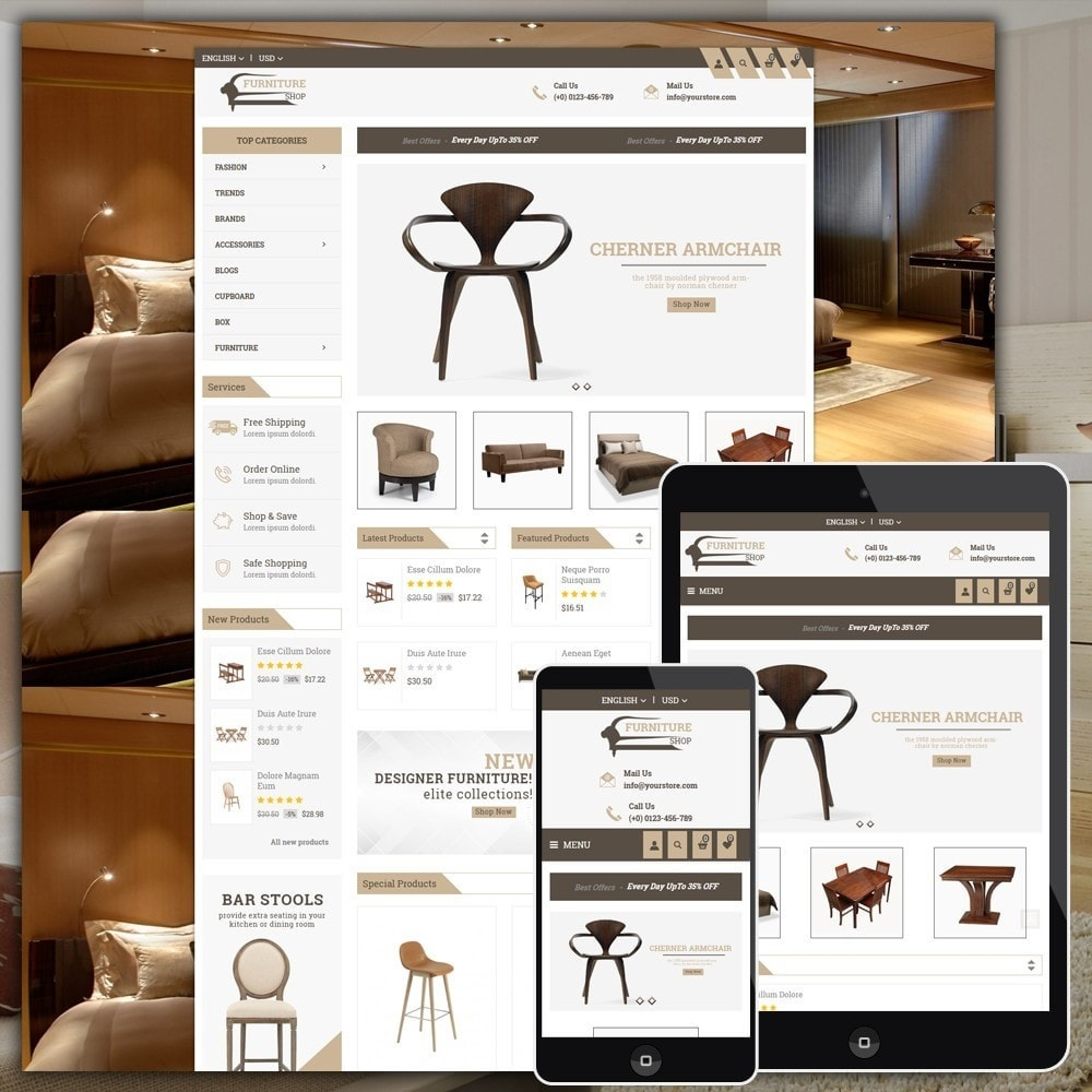 theme - Casa & Jardins - Furniture Shop - 1