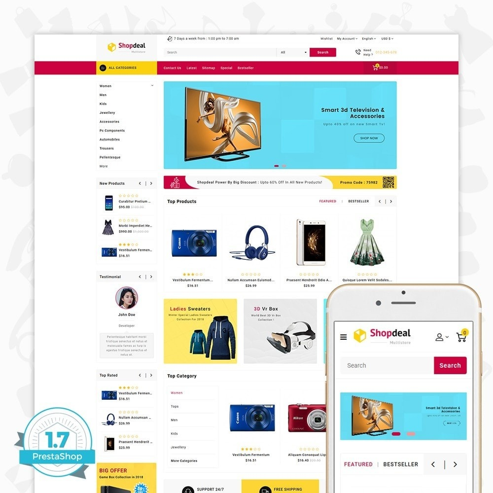 theme - Elektronica & High Tech - Shopdeal - The Multistore Template - 1