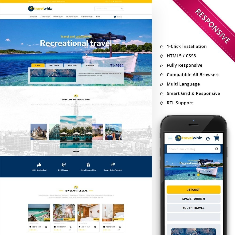 theme - Sport, Aktivitäten & Reise - Travelwhiz - The Travel Website - 1