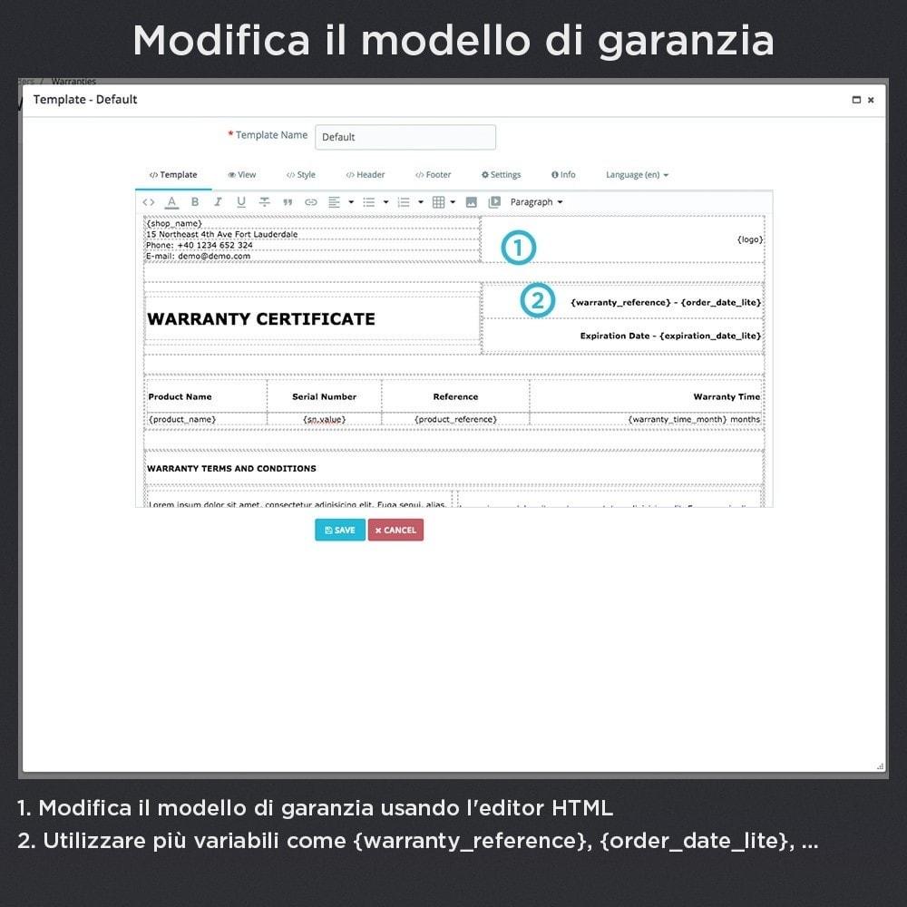 module - Gestione Ordini - Garanzia del Prodotto Pro - 14