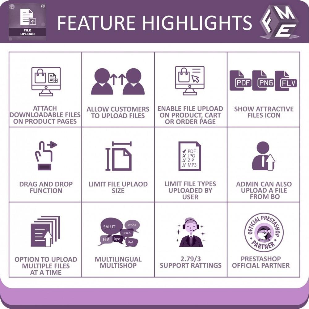 module - Dodatkowe informacje & Zakładka produktu - Przesyłanie Plików Przez Klientów ze Strony Zamówienia - 1