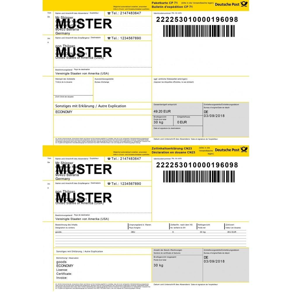 module - Versanddienstleister - DHL Paket Shipping Plugin with Print Label - 2