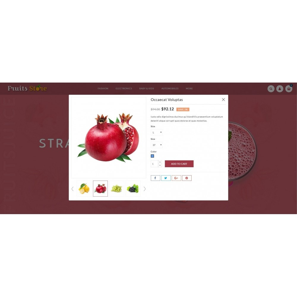 theme - Alimentos & Restaurantes - Fruits Store - 7