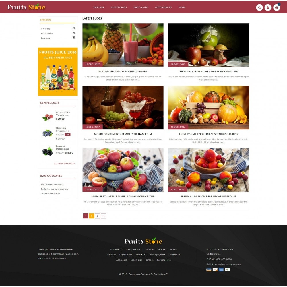 theme - Alimentos & Restaurantes - Fruits Store - 9