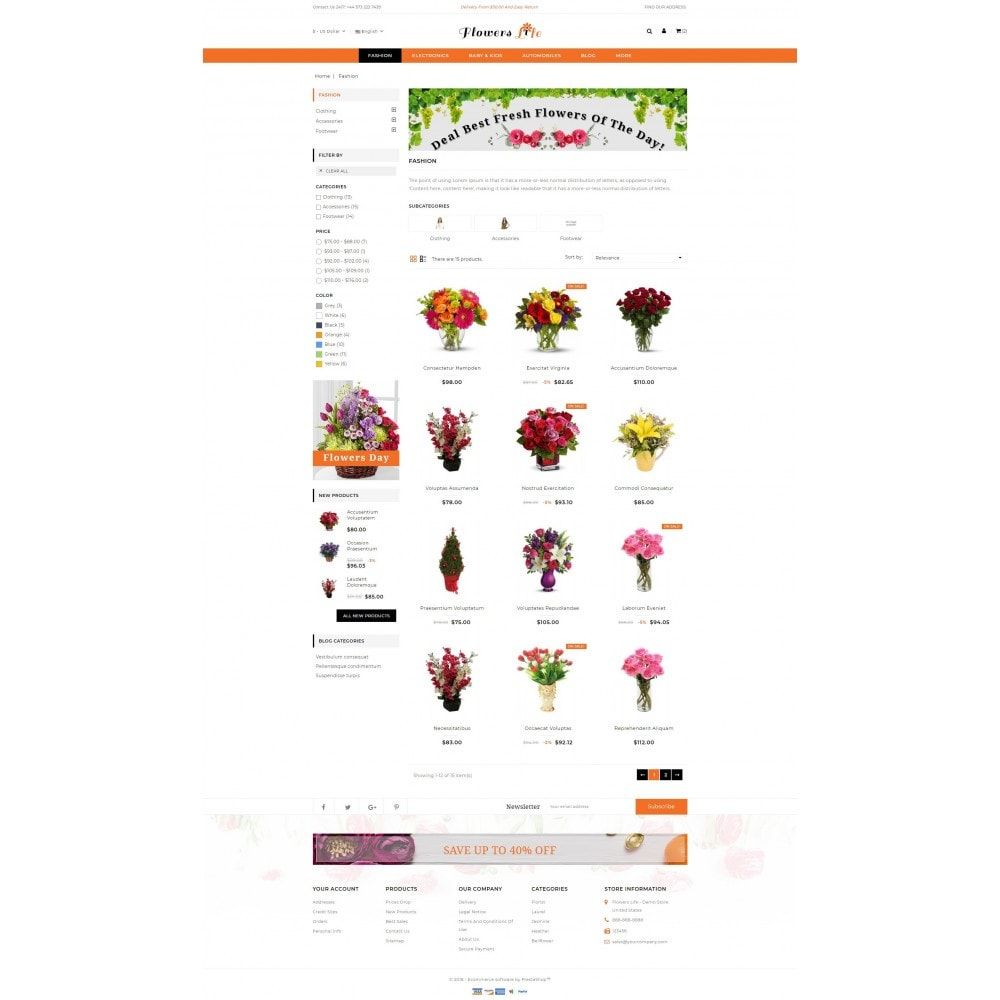 theme - Gifts, Flowers & Celebrations - Flowers Store - 3