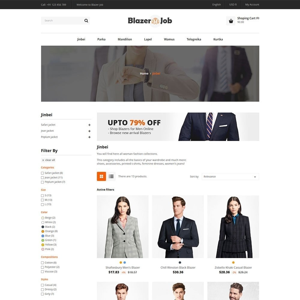 theme - Мода и обувь - Blazerjob Fashion Store - 3