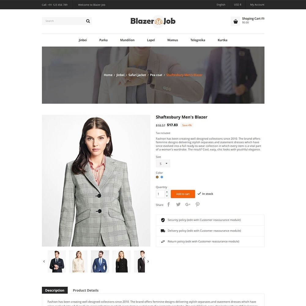 theme - Мода и обувь - Blazerjob Fashion Store - 5