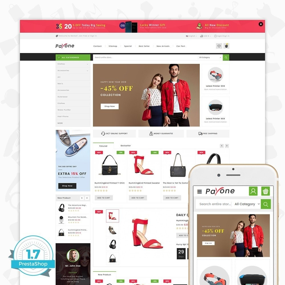 theme - Mode & Chaussures - PayOne - The MultiStore - 1