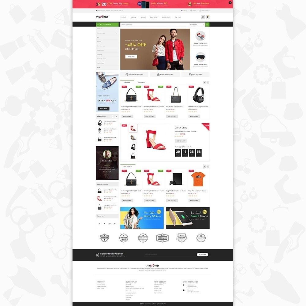 theme - Mode & Chaussures - PayOne - The MultiStore - 2