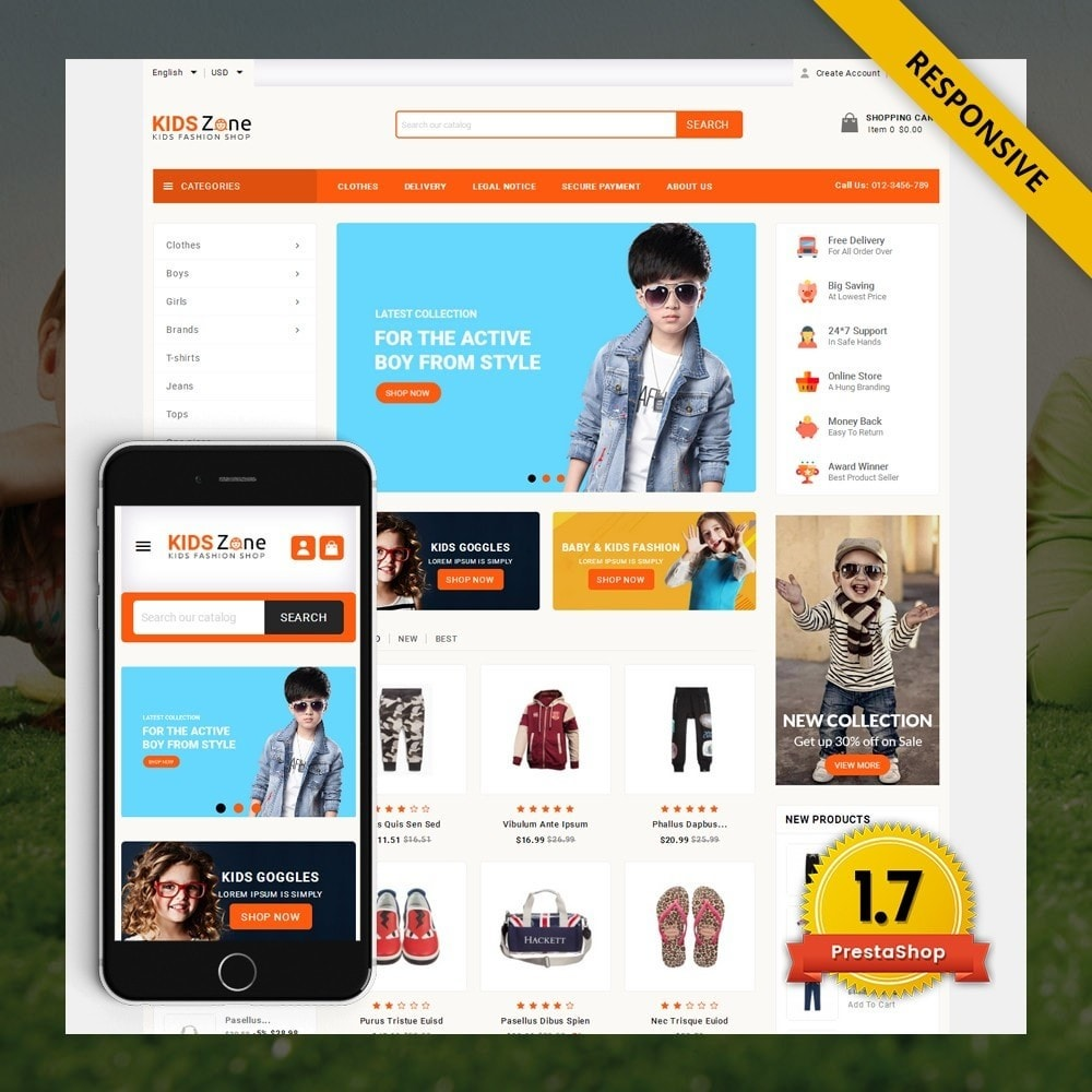 theme - Kinder & Spielzeug - KidsZone  - Kids Fashion Store - 1