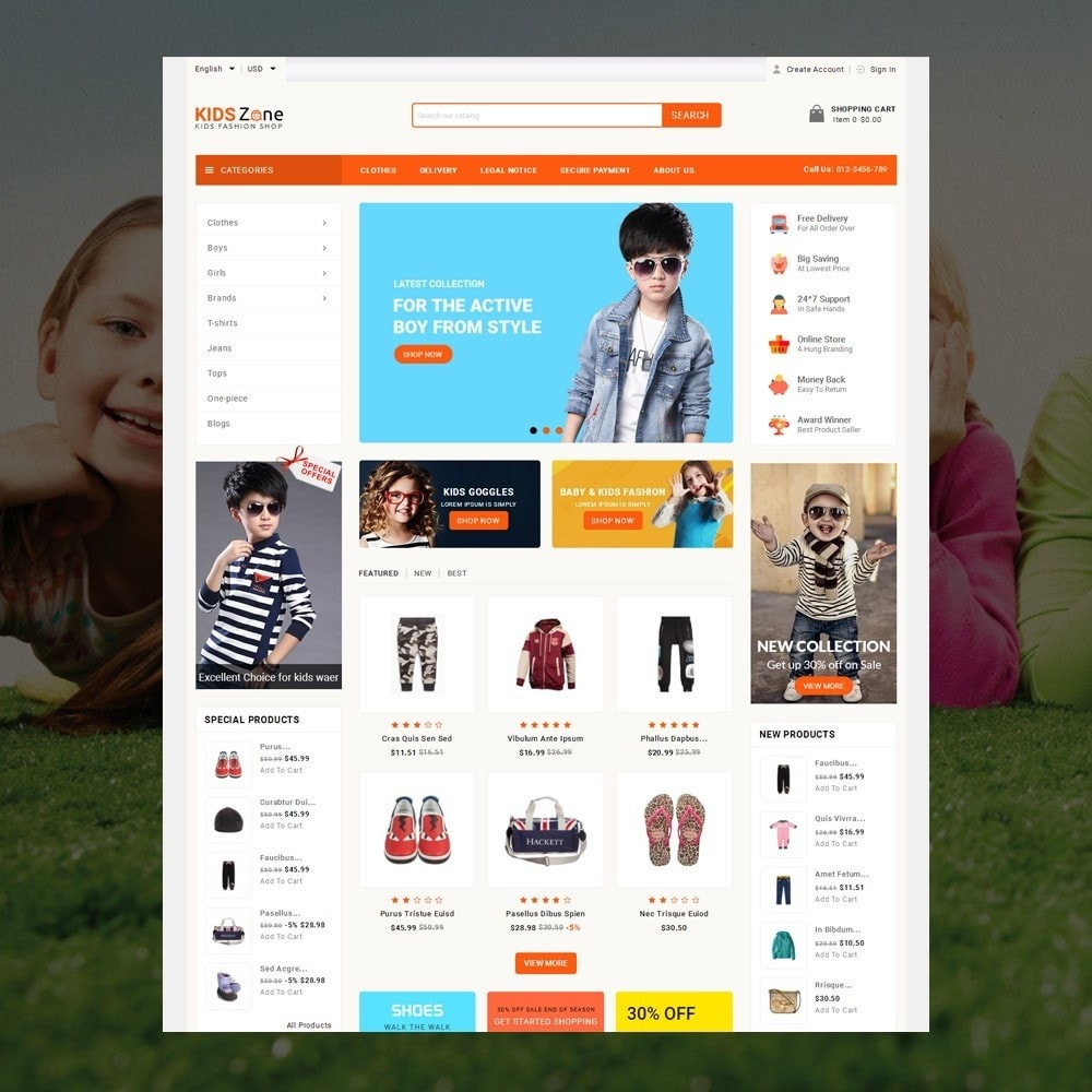 theme - Kinder & Spielzeug - KidsZone  - Kids Fashion Store - 2