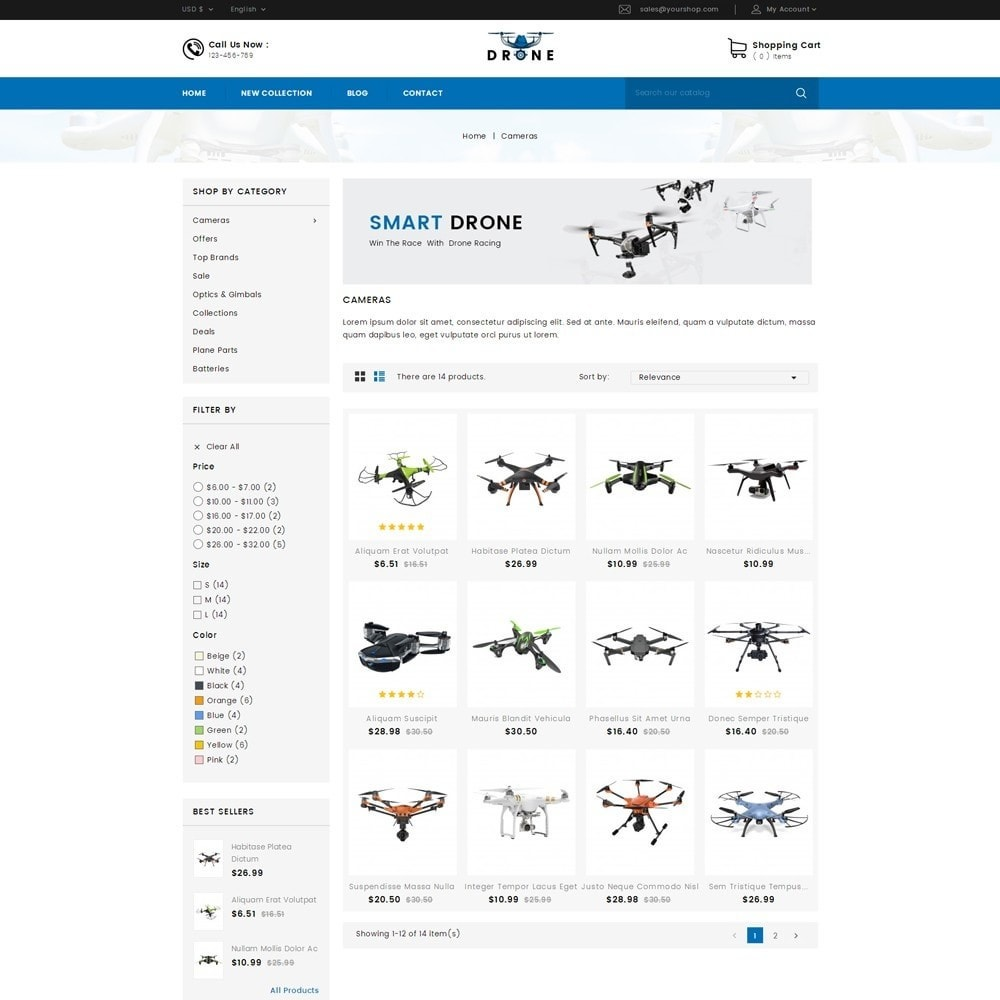 theme - Electronique & High Tech - Drone Online Store - 2