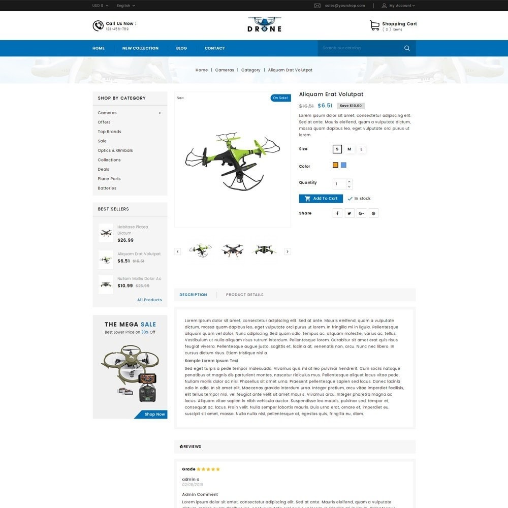 theme - Electronique & High Tech - Drone Online Store - 3