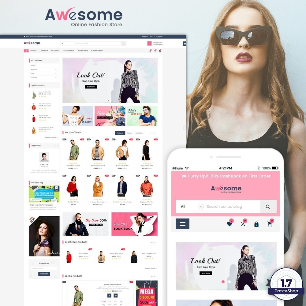 theme - Fashion & Shoes - Awesome – Fashion Super Store v3 - 1