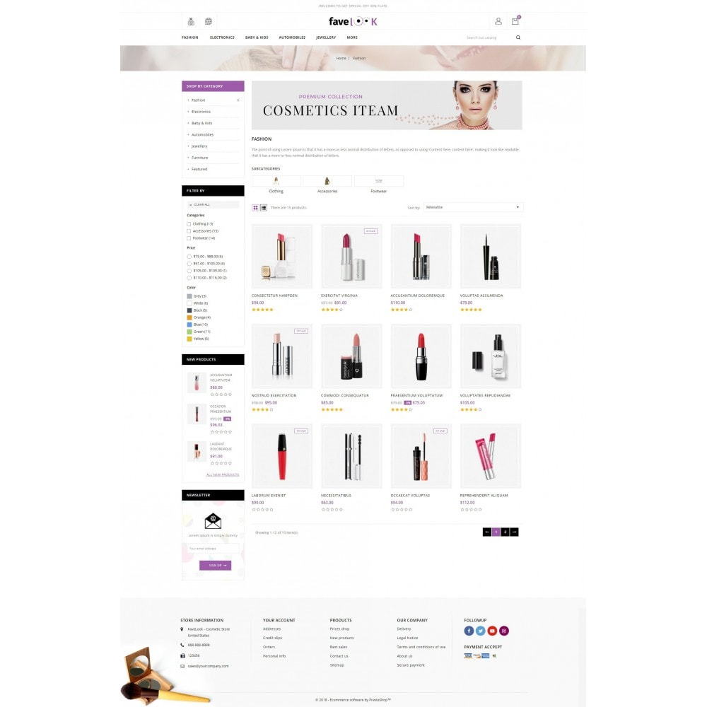 theme - Health & Beauty - Fave Look - Cosmetic Store - 3