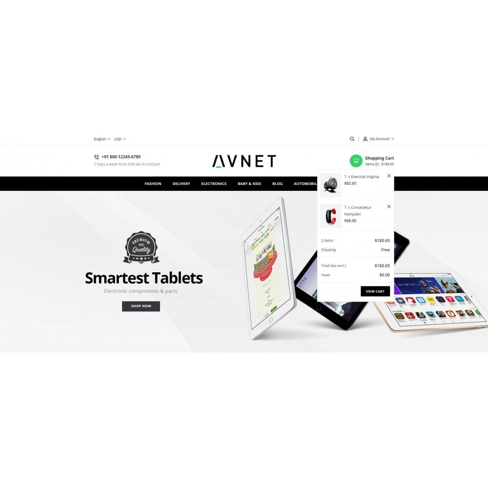 theme - Elektronik & High Tech - Avnet - Electronics Store - 8