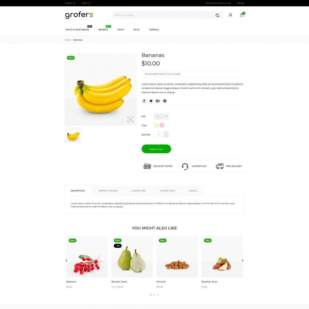 theme - Food & Restaurant - Grofers - 6