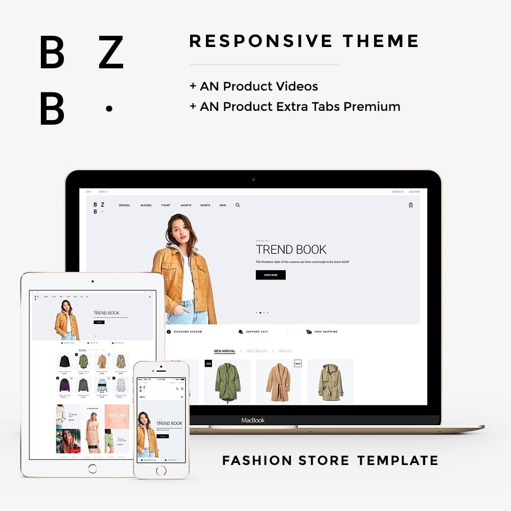 theme - Мода и обувь - BZB Fashion Store - 1