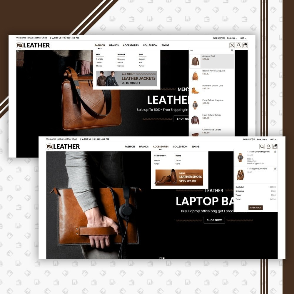 theme - Mode & Schuhe - Leather Style Shop - 6