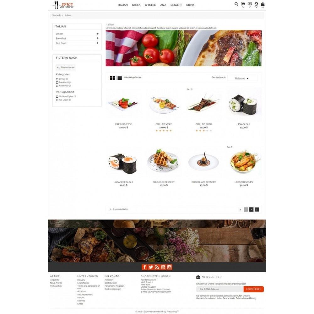 theme - Żywność & Restauracje - Spicy Restaurant - 5