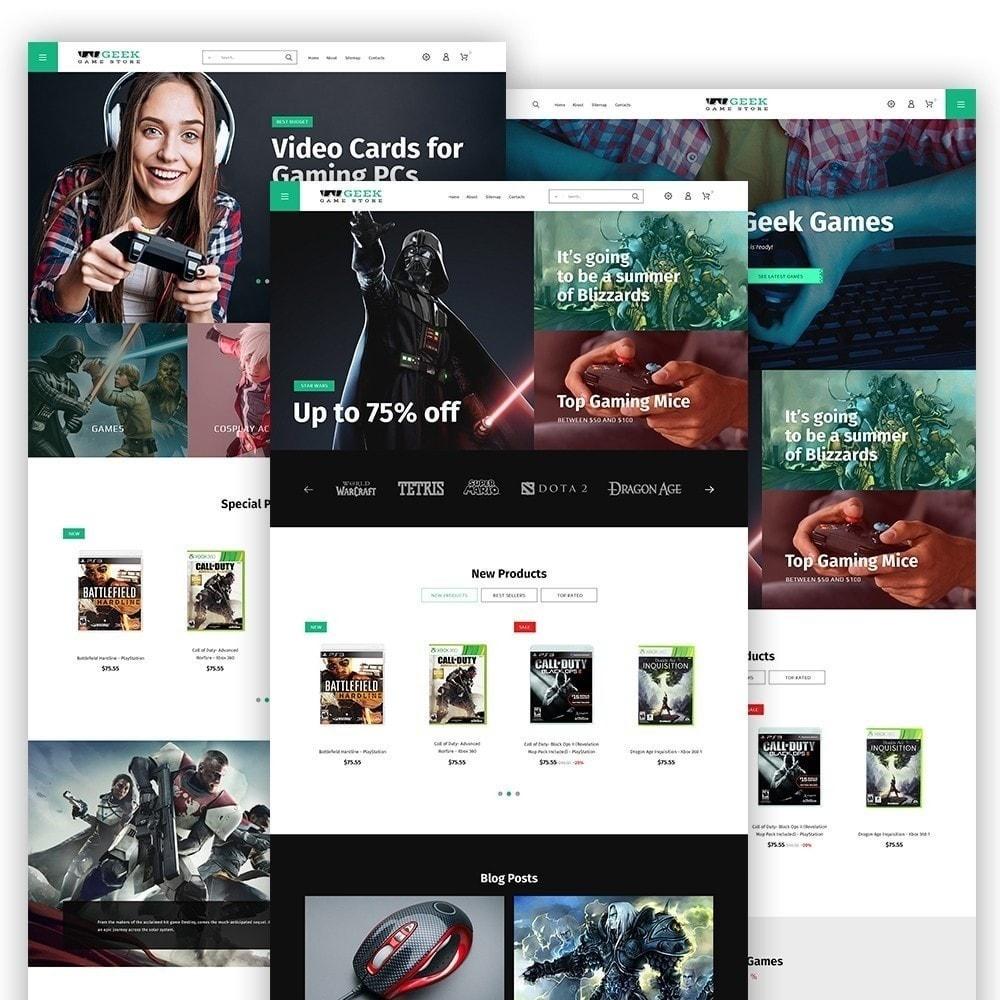 theme - Электроника и компьютеры - Geek - Game Store - 3