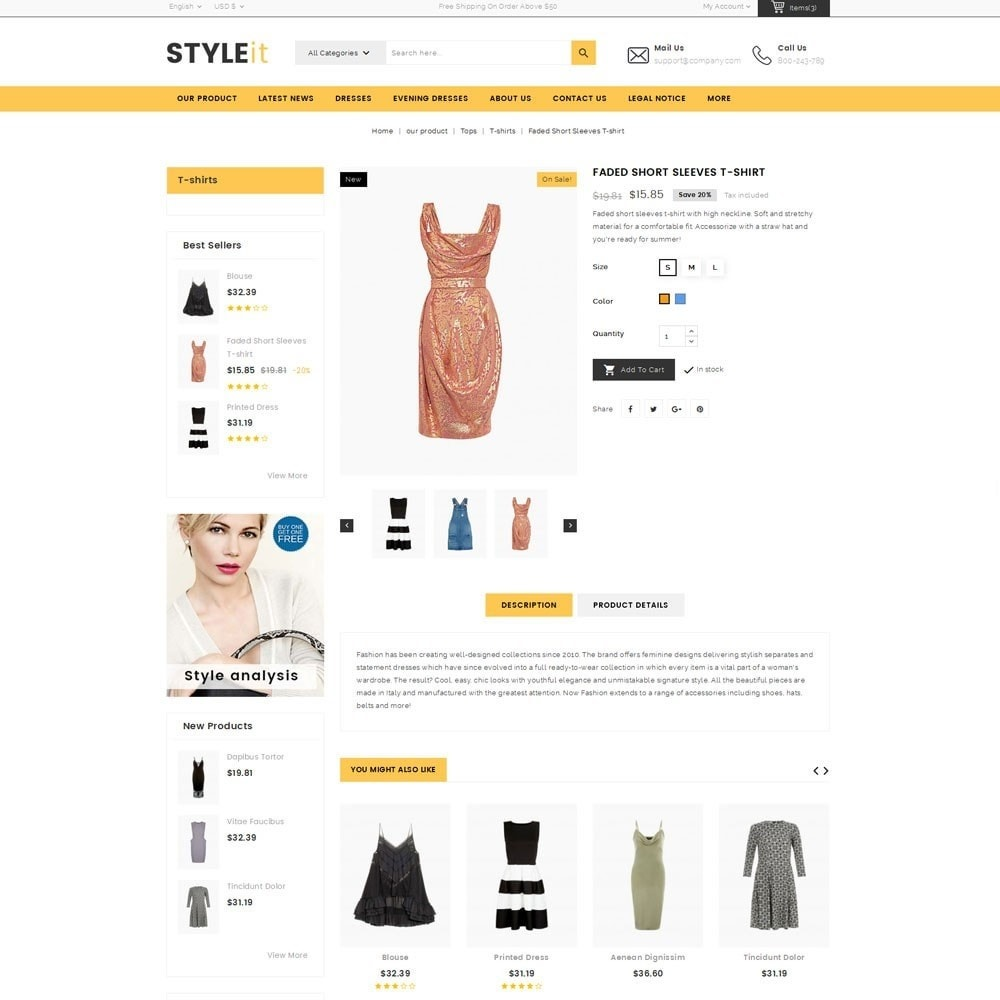 theme - Fashion & Shoes - Styleit Fashion Store - 6