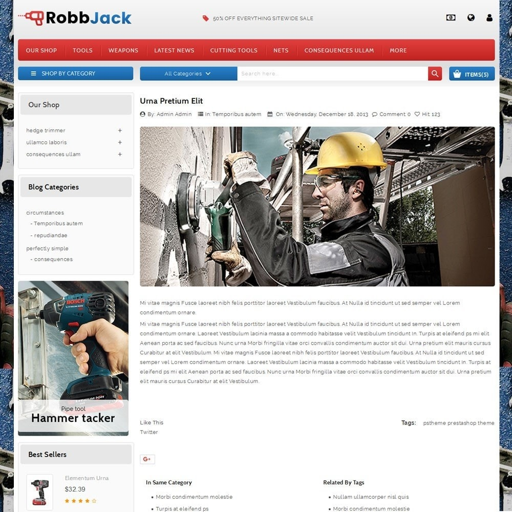 theme - Coches y Motos - Robbjack Tool Store - 6