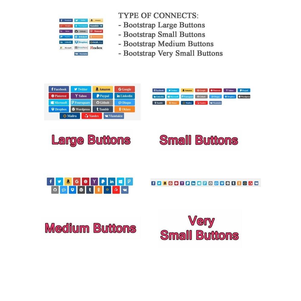module - Botones de inicio de Sesión/Conexión - Social Logins + Statistics (19 in 1) - 14