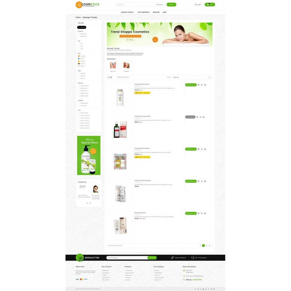 theme - Здоровье и красота - Mega Shoppe Bio Cosmetics - 4