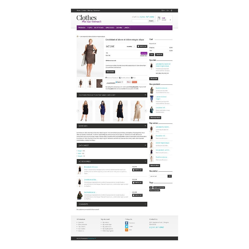 theme - Mode & Chaussures - Store for Puffy Ladies - 7