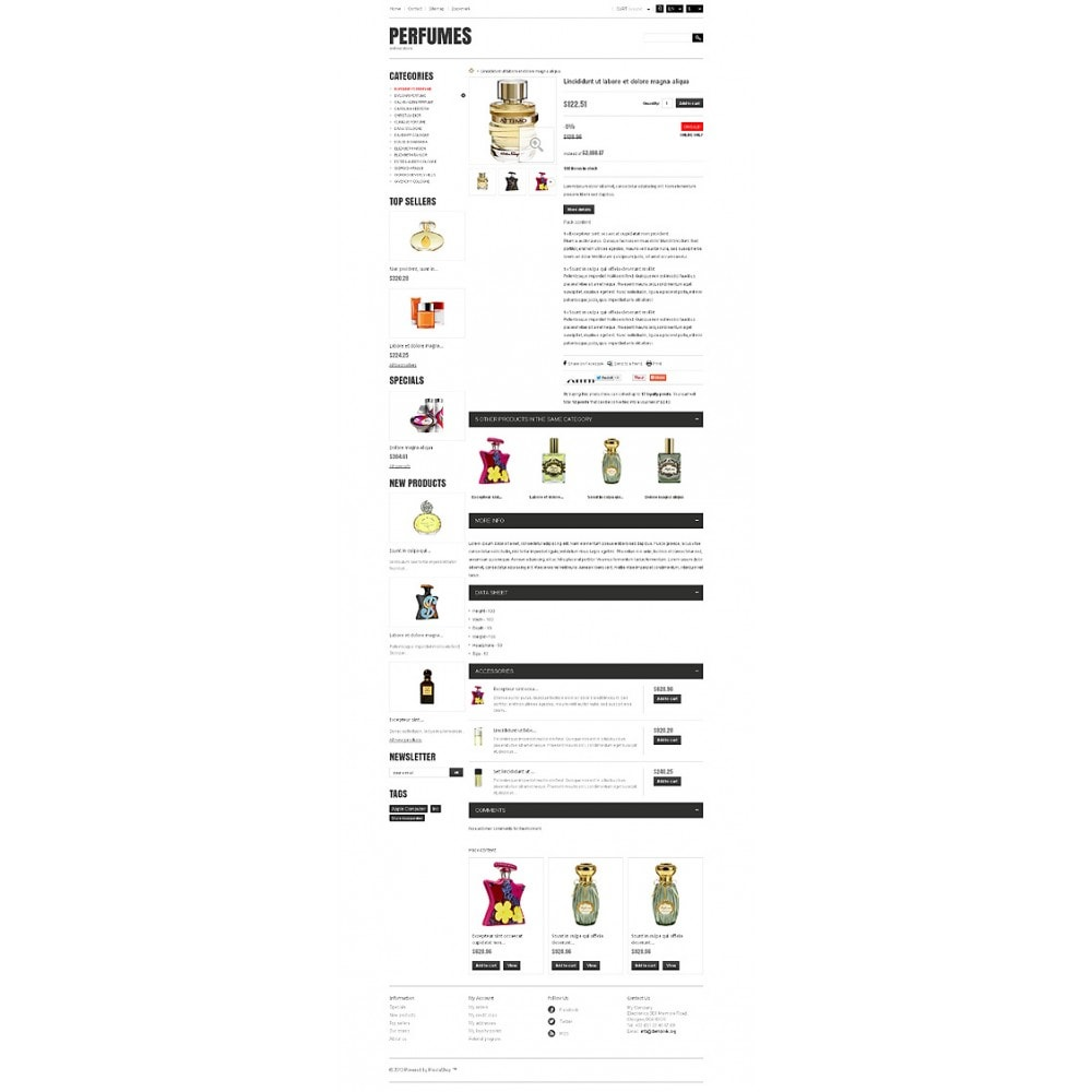 theme - Мода и обувь - Responsive Perfumes Store - 7