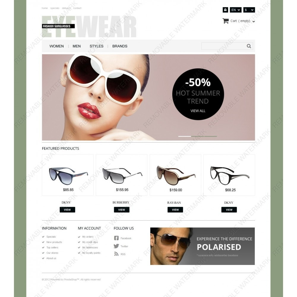 theme - Fashion & Shoes - Responsive Eyewear Store - 3