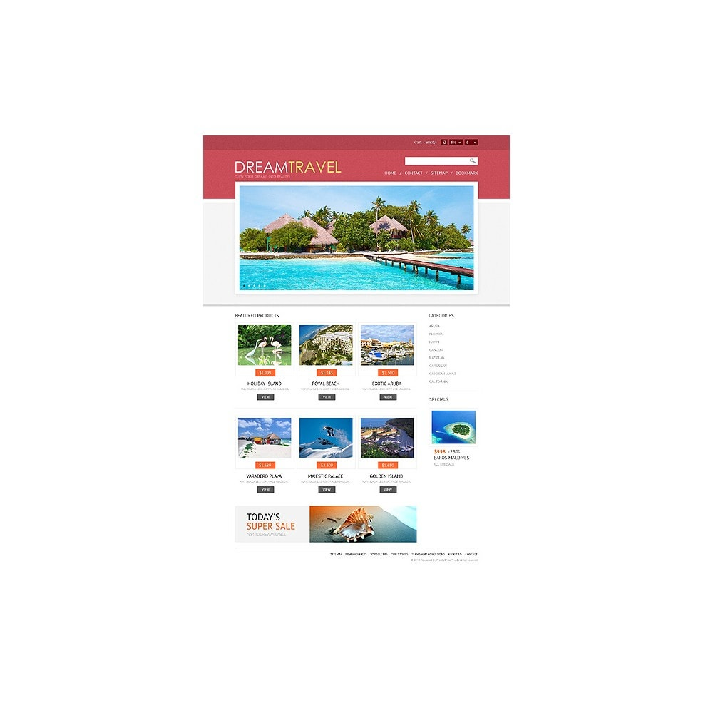 theme - Спорт и Путешествия - Dream Travel Store - 11