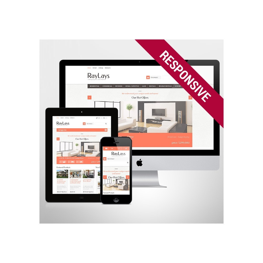 theme - Temas PrestaShop - Responsive Real Estate Store - 1