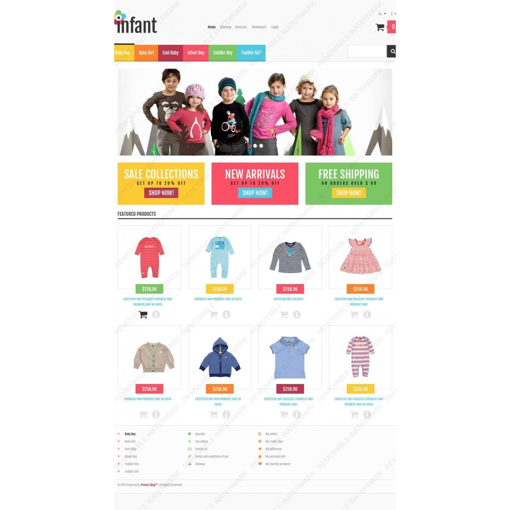 theme - Moda & Calzature - Responsive Infant Shop - 4