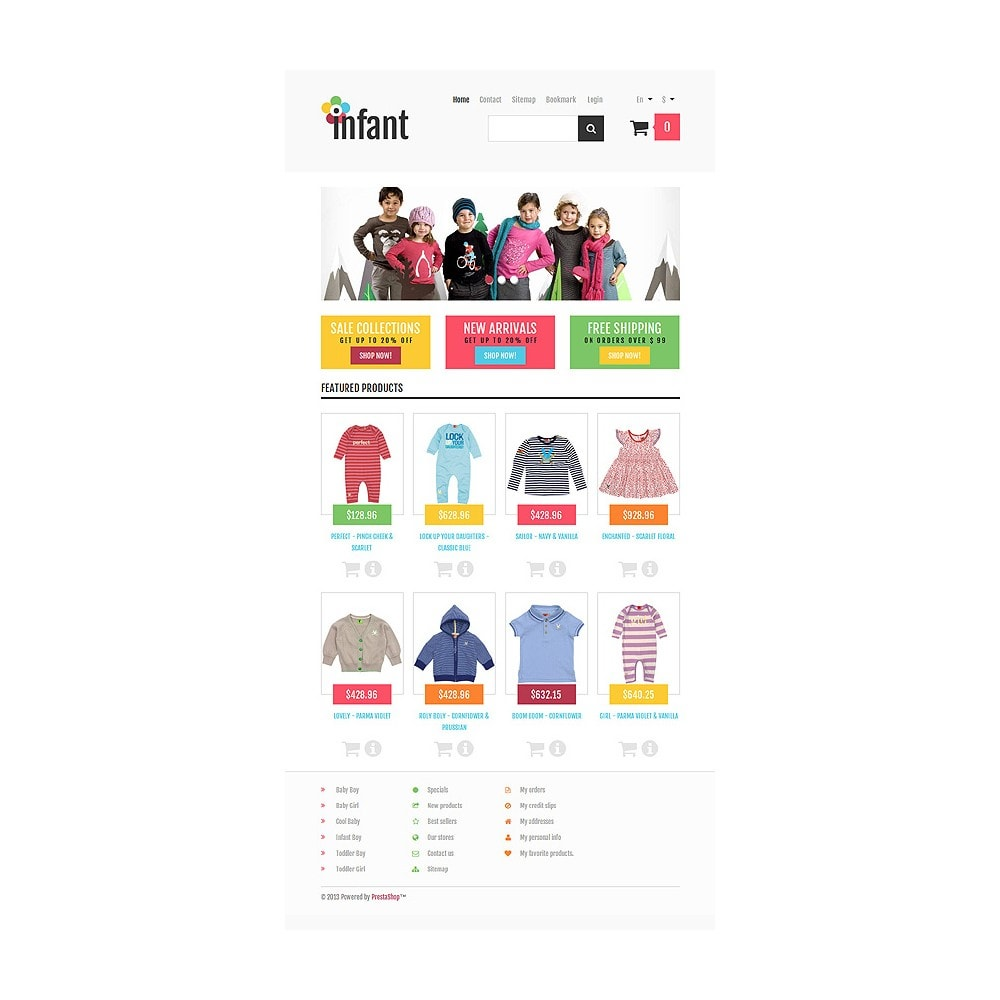 theme - Moda & Calzature - Responsive Infant Shop - 8