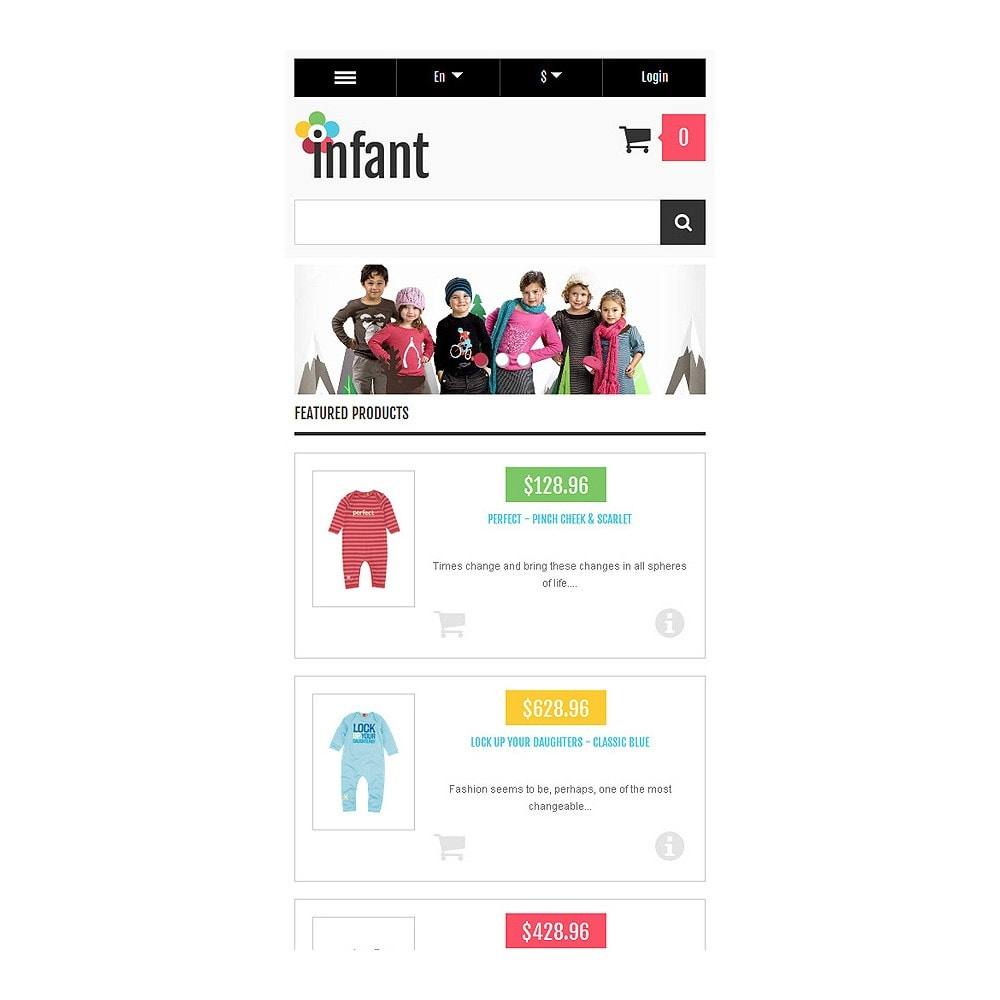 theme - Moda & Calzature - Responsive Infant Shop - 9
