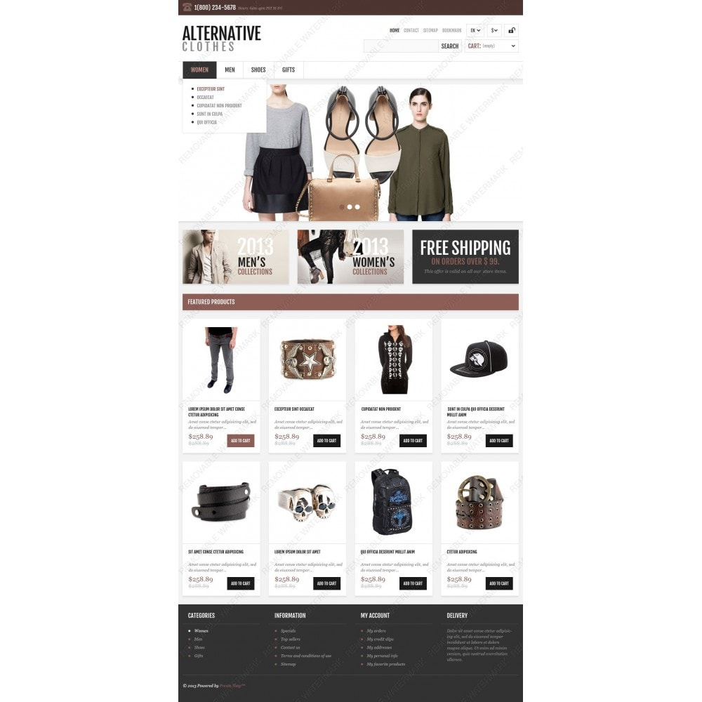 theme - Mode & Chaussures - Magasin adaptatif de vêtements alternatifs - 4